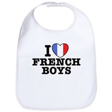 I Love French Boys Bib