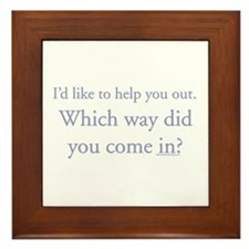 I'd like to help you out. Wh Framed Tile