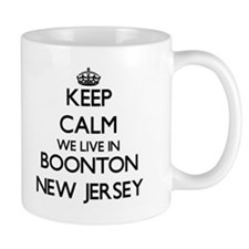 Keep calm we live in Boonton New Jersey Mugs