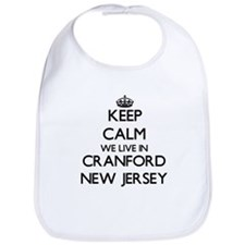 Keep calm we live in Cranford New Jersey Bib