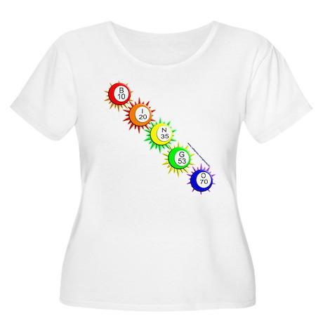 B-I-N-G-O! Women's Plus Size Scoop Neck T-Shirt
