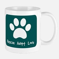 Rescue Adopt Love (Teal) Mug