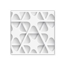 Modern White Minimal Abstract Pattern Sticker
