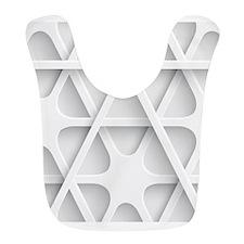Modern White Minimal Abstract Pattern Bib