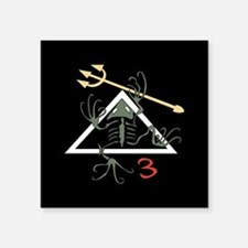 "Funny Navy seal desert frog Square Sticker 3"" x 3"""