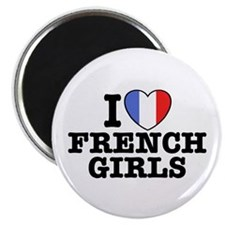 I Love French Girls Magnet
