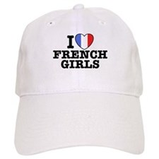 I Love French Girls Baseball Cap