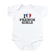I Love French Girls Infant Bodysuit