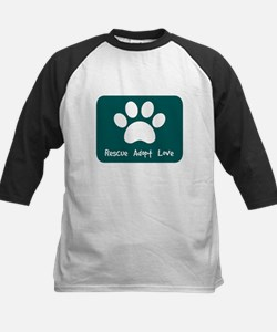 Rescue Adopt Love (Teal) Baseball Jersey