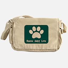 Rescue Adopt Love (Teal) Messenger Bag