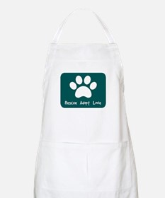 Rescue Adopt Love (Teal) Apron