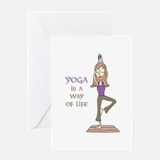 Yoga Is A Way Of Life Greeting Cards