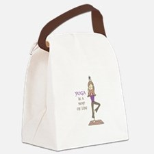 Yoga Is A Way Of Life Canvas Lunch Bag