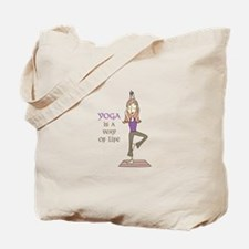 Yoga Is A Way Of Life Tote Bag