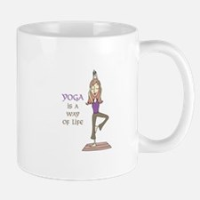 Yoga Is A Way Of Life Mugs