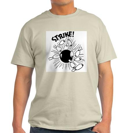 Strike! Ash Grey Retro Bowling T-Shirt