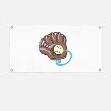 Baseball Glove& Ball Banner