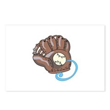Baseball Glove& Ball Postcards (Package of 8)