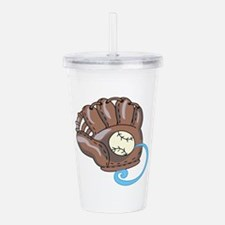 Baseball Glove& Ball Acrylic Double-wall Tumbler