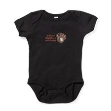 I Watch Baseball With Daddy Baby Bodysuit