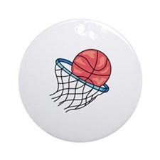 Basketball Hoop Ornament (Round)