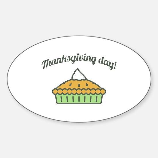 Happy Thanksgiving Day Pie Dark 2 Decal
