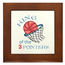 King Of The 3 Pointers Framed Tile