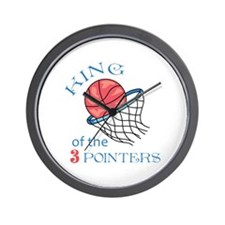 King Of The 3 Pointers Wall Clock