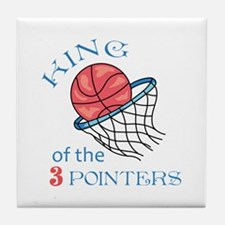 King Of The 3 Pointers Tile Coaster