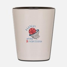 King Of The 3 Pointers Shot Glass