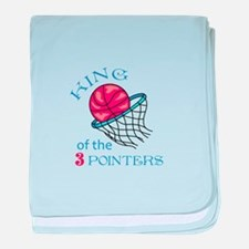 King Of The 3 Pointers baby blanket