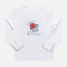 King Of The 3 Pointers Long Sleeve T-Shirt
