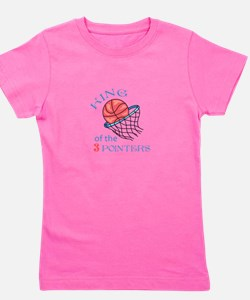 King Of The 3 Pointers Girl's Tee