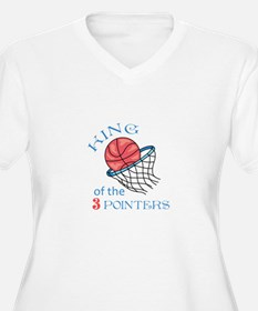 King Of The 3 Pointers Plus Size T-Shirt