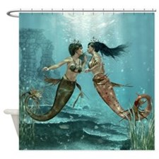 Friendly Mermaids Shower Curtain