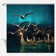 Aurora Voyage Shower Curtain