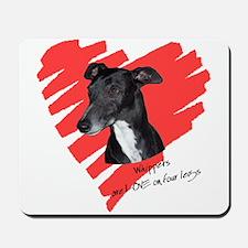 Whippet2 Love on 4 Legs Mousepad