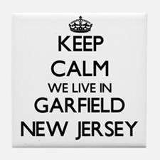 Keep calm we live in Garfield New Jer Tile Coaster