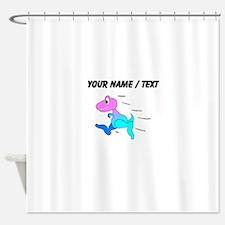 Custom Dinosaur Running Shower Curtain