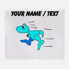 Custom Dinosaur Running Throw Blanket