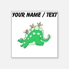 Custom Dinosaur And Children Sticker
