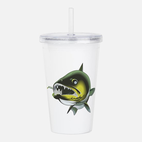 WALLEYE FRONT VIEW Acrylic Double-wall Tumbler