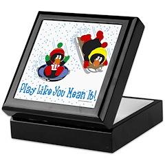 Penguin Tile Keepsake Box: Play like you...