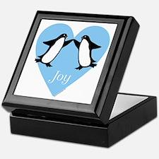 Penguin Tile Keepsake Box: Joy - Dancing Penguins
