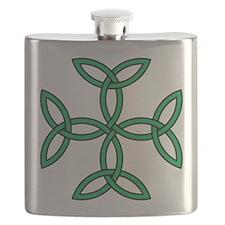 Triquetra Cross Flask