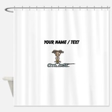 Custom Upside Down Deer Shower Curtain