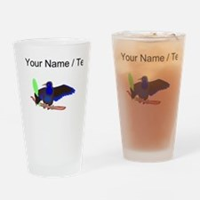 Custom Crow With Mirror Drinking Glass