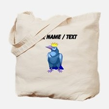Custom Crow Wearing Crown Tote Bag