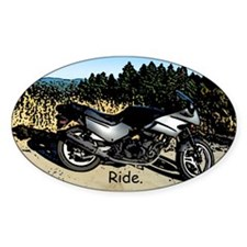 Ride Mountains Oval Decal