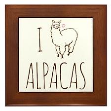 I Love Alpacas Framed Tile
